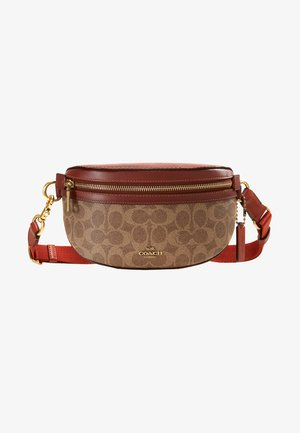 COATED SIGNATURE FANNY PACK - Ledvinka - tan rust