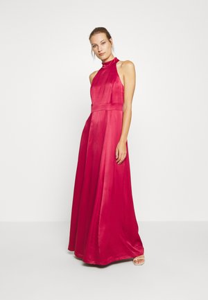 LONG NECKHOLDER DRESS - Occasion wear - cassis sorbet