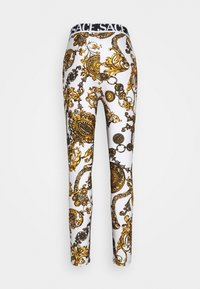 Versace Jeans Couture - Leggings - Trousers - white/gold - 8