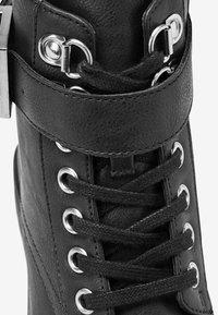 Next - Šněrovací kotníkové boty - black - 4