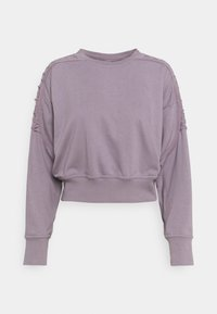 Nike Performance - CROP CREW - Sweatshirt - purple smoke - 0