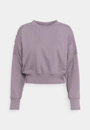 CROP CREW - Sweatshirt - purple smoke
