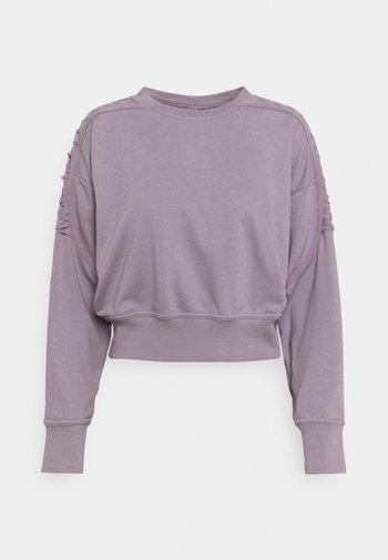 CROP CREW - Sweatshirt - purple smoke