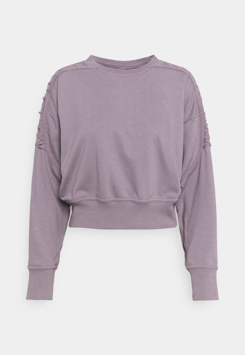 Nike Performance - CROP CREW - Sweatshirt - purple smoke