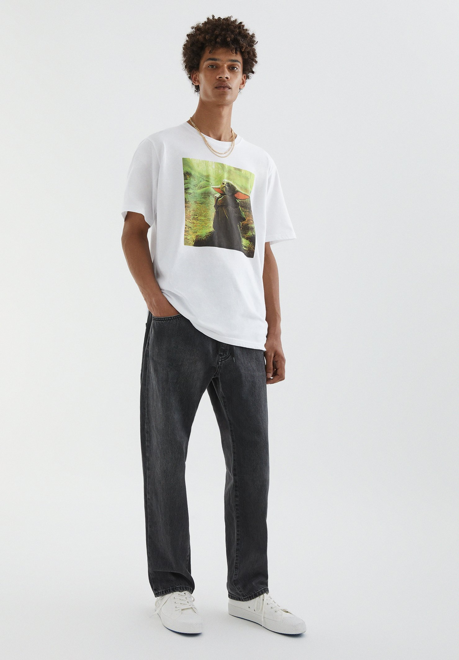 Herren MIT BABY-YODA-MOTIV - T-Shirt print
