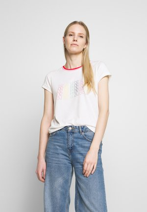 ONAFI - Print T-shirt - ecru