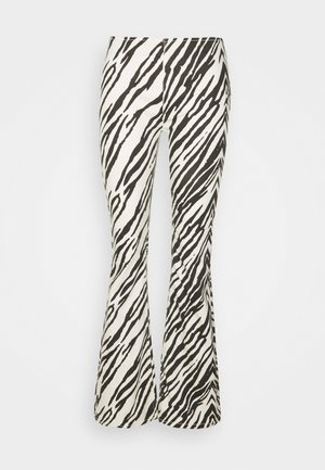 PENNY PULL ON PRINTED - Pantalon classique - white/black