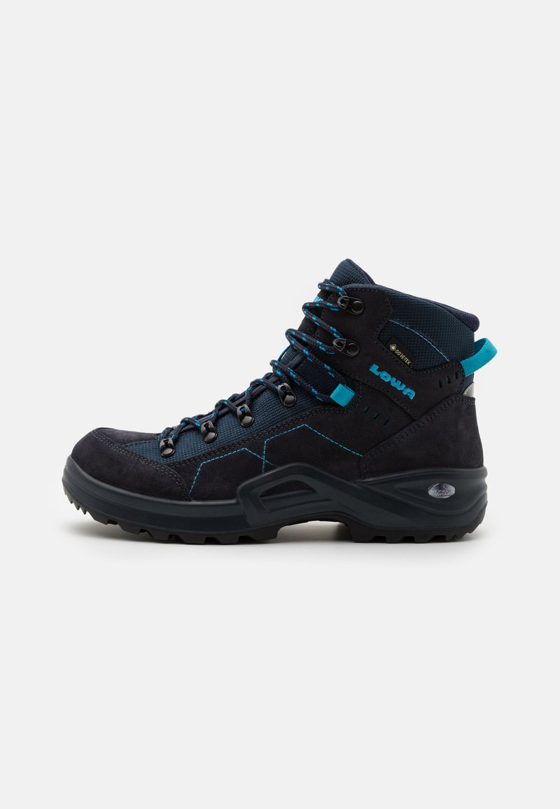 Lowa - KODY III GTX MID JUNIOR UNISEX - Hiking shoes - navy/türkis