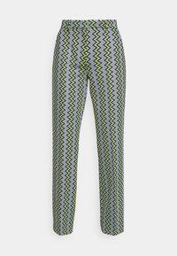 TROUSERS - Trousers - powderblue/milk/black/spearmint