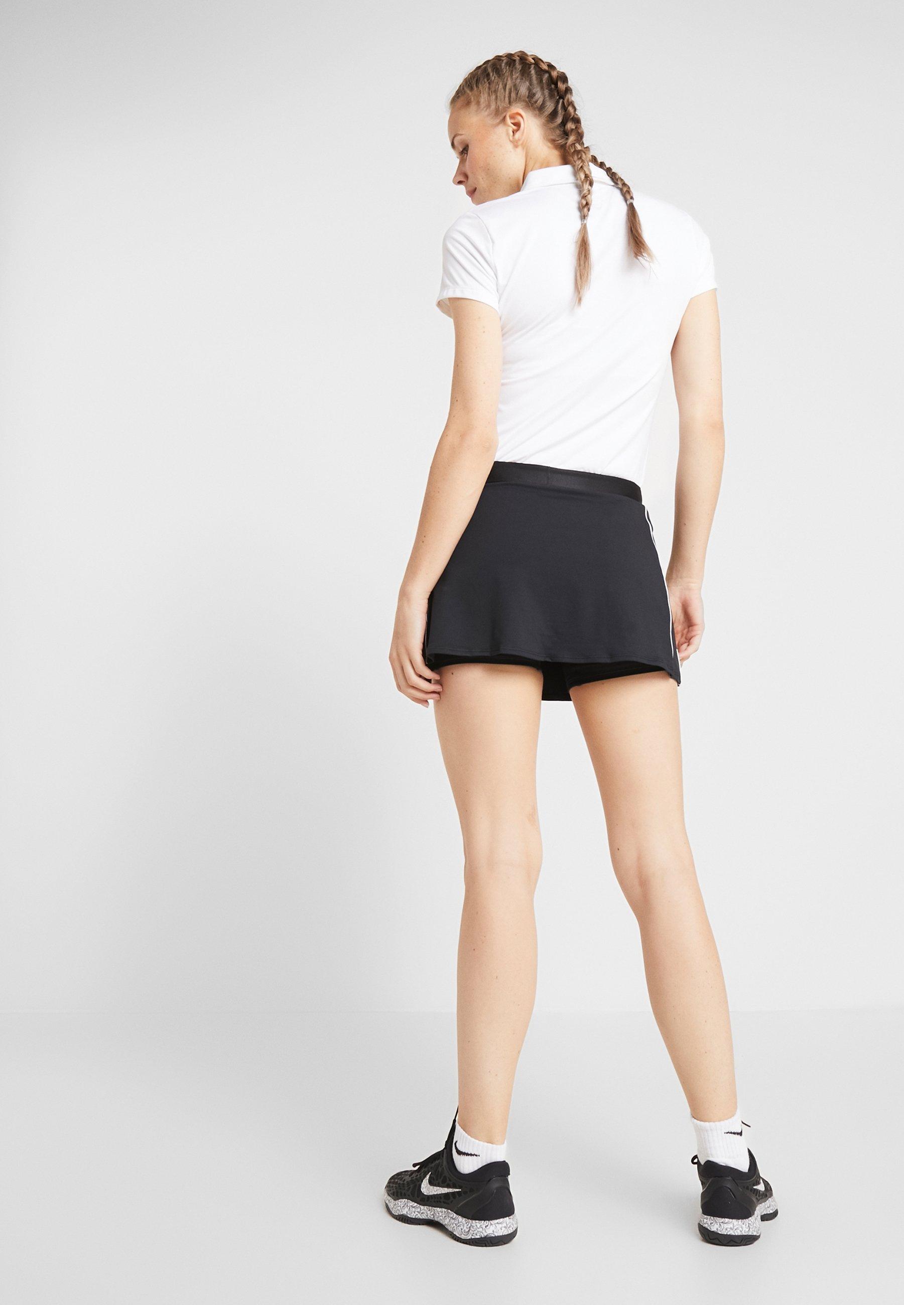 Nike Performance DRY SKIRT - Sports skirt - black/white VWL33