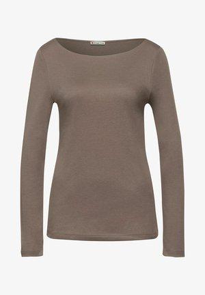 IN UNIFARBE - Long sleeved top - braun