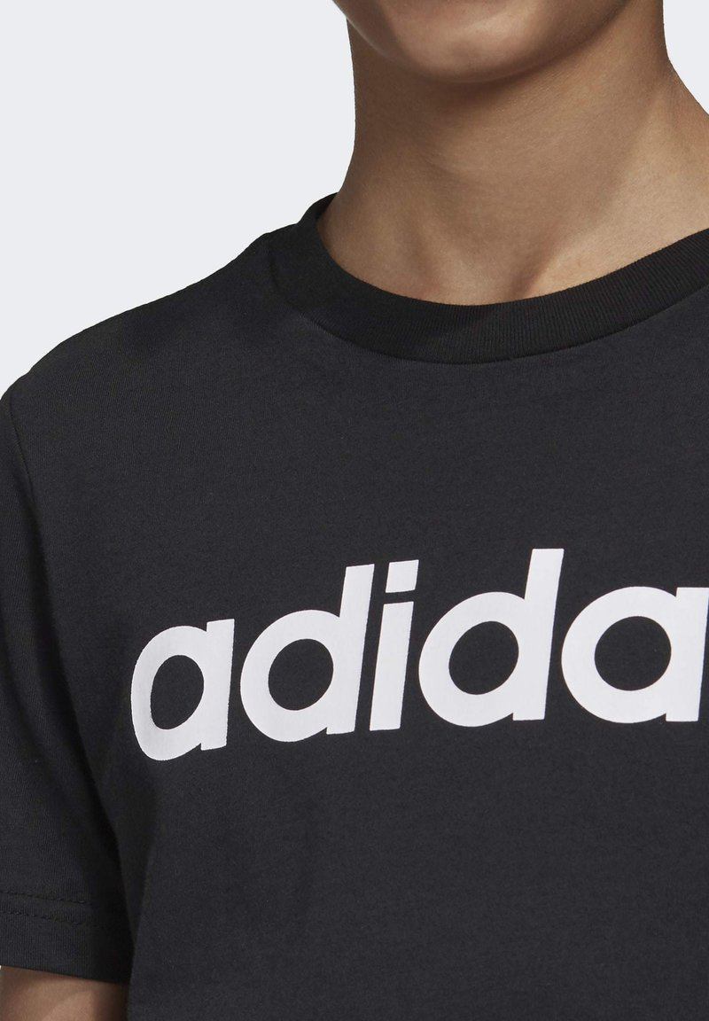 adidas Performance - ESSENTIALS LINEAR LOGO T-SHIRT - Camiseta estampada - black