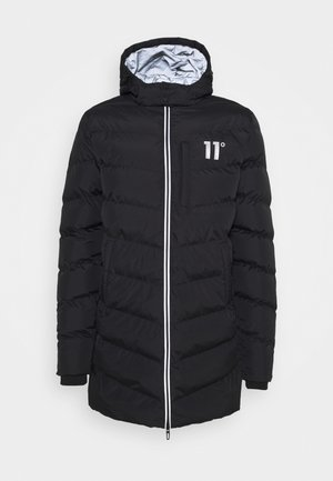 LONG LINE CHEVRON PUFFER - Winter coat - black
