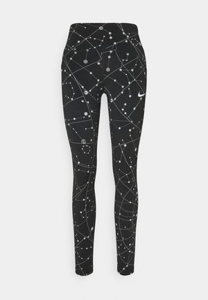 SPEED  - Legginsy - black/silver