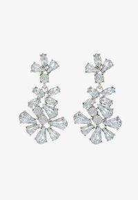 Pieces - Náušnice - silver-coloured/clear - 3
