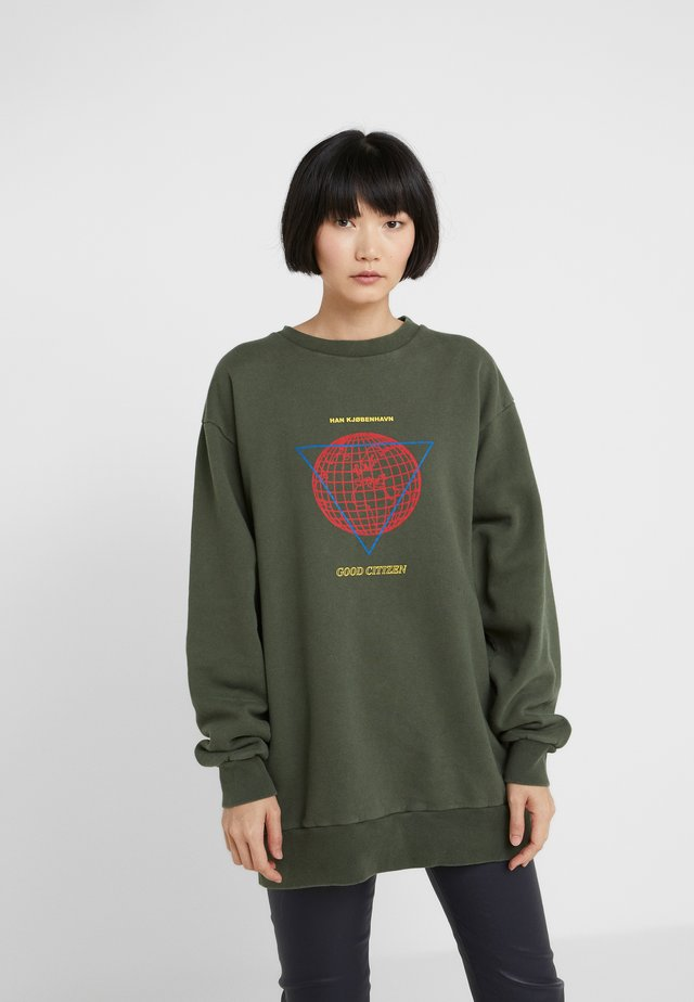 RELAXED CREW - Bluza - army