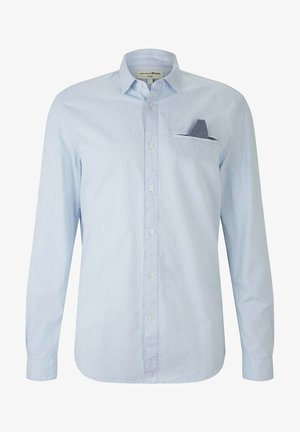 Shirt - light blue white structure