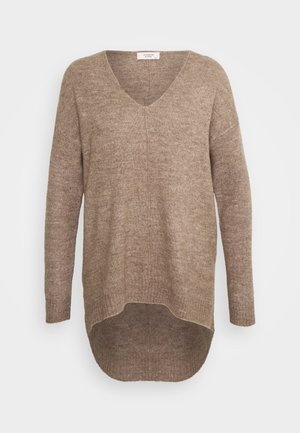 JDY ANNE V NECK  - Jumper - natural melange