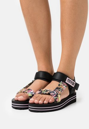 Sandales à plateforme - multicolor