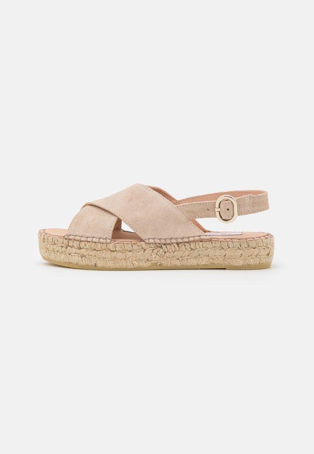 MARLIE - Sandały na platformie - beige