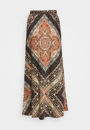 ONLCECILIA ANCLE SKIRT WVN - Maksihame - hot sauce/spice scarf