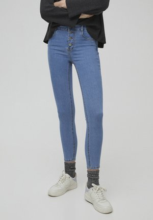 PUSH-UP - Jeans Skinny Fit - mottled blue