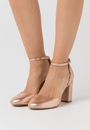 WIDE FIT WHISPER - Zapatos altos - rose gold