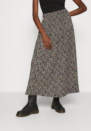 ONLZILLE SKIRT - Maxi skirt - black/ditsy