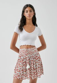 PULL&BEAR - A-line skirt - multi-coloured - 3