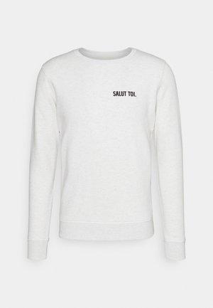 UNISEX - Zip-up sweatshirt - cream heather grey