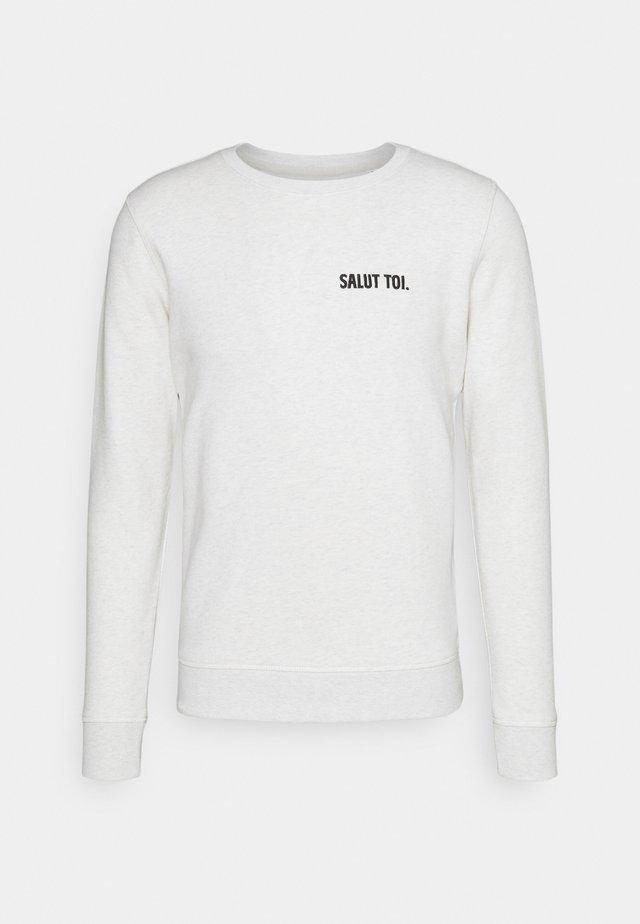 UNISEX - Zip-up hoodie - cream heather grey