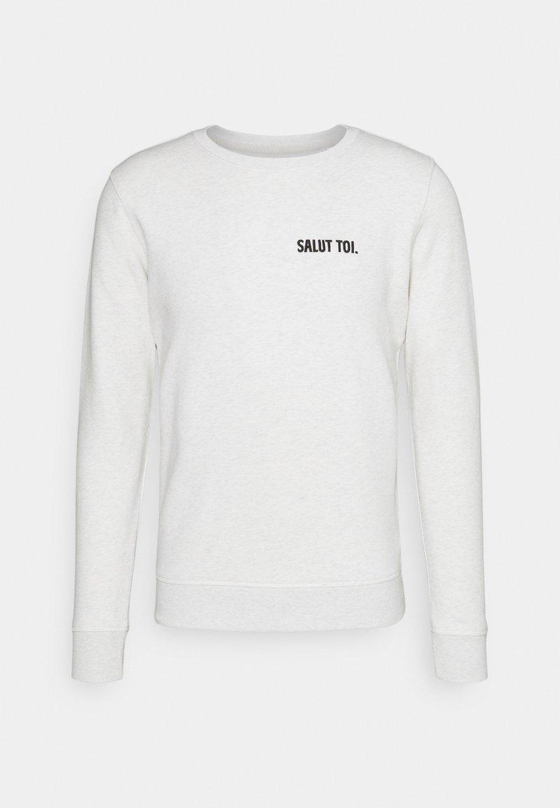 Les Petits Basics - UNISEX - Zip-up sweatshirt - cream heather grey