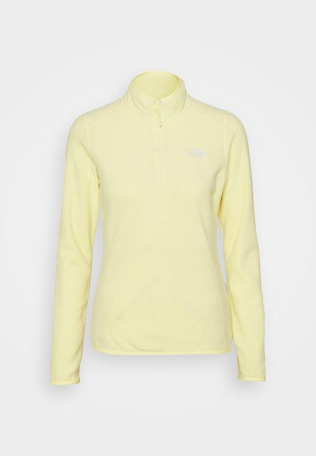 GLACIER 1/4 ZIP MONTEREY - Sweat polaire - pale lime