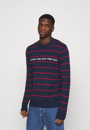 LIGHT BLEND STRIPE SWEATER - Jumper - twilight navy/multi