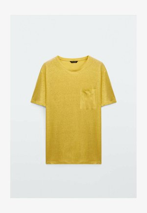 T-shirt - bas - mustard yellow