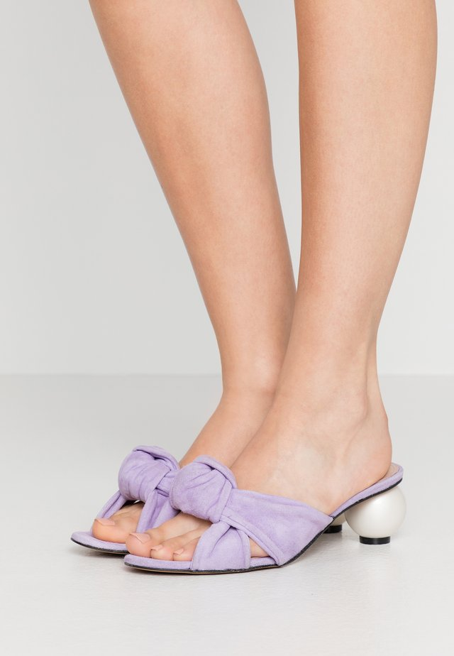 GINGER - Mules à talons - thalia lilac