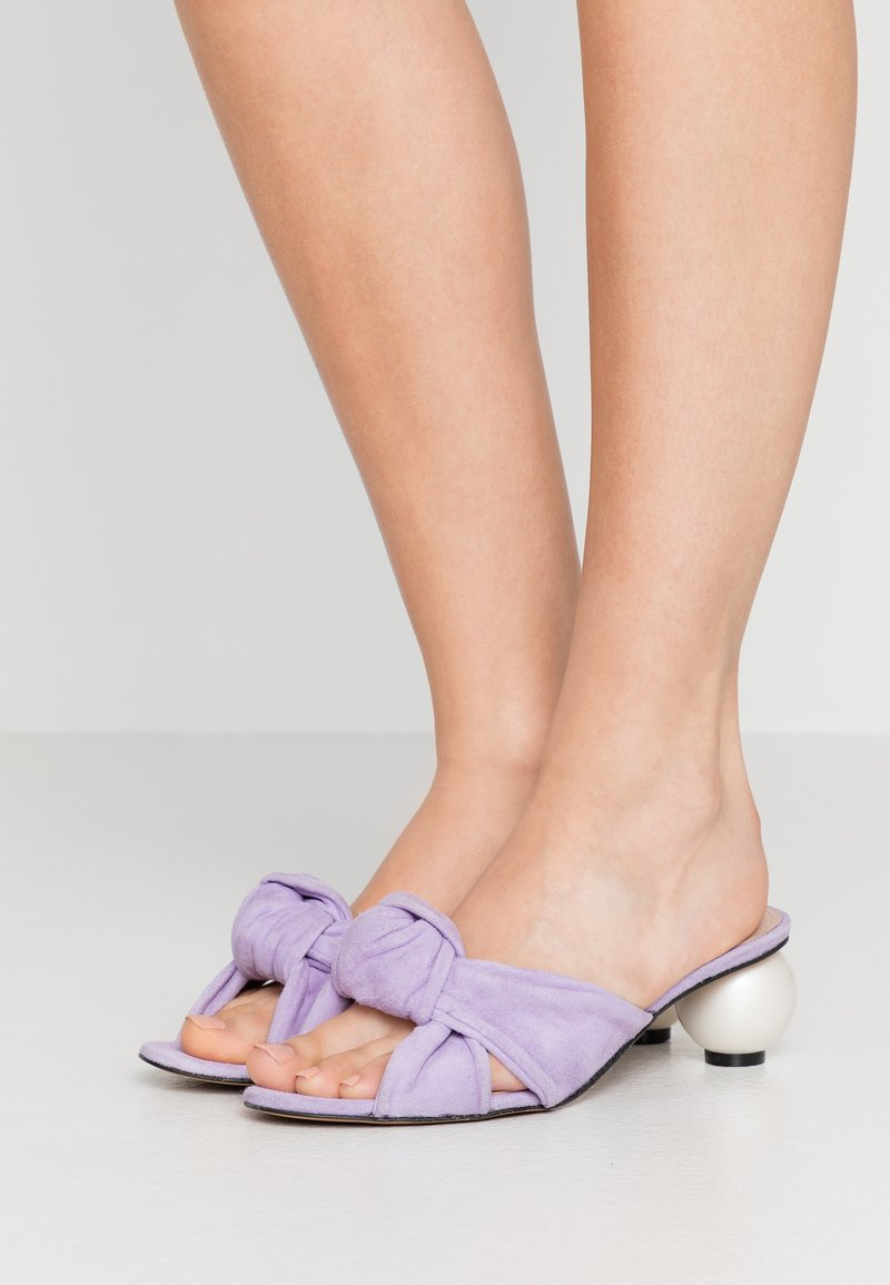 Mother of Pearl - GINGER - Mules à talons - thalia lilac