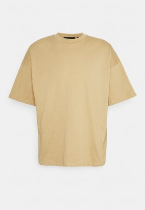 BOXY OVERSIZED - Basic T-shirt - camel