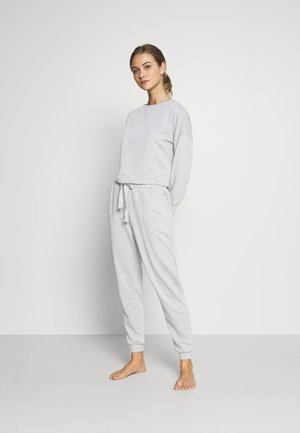 Basic lounge set - Pyjama set - mottled light grey