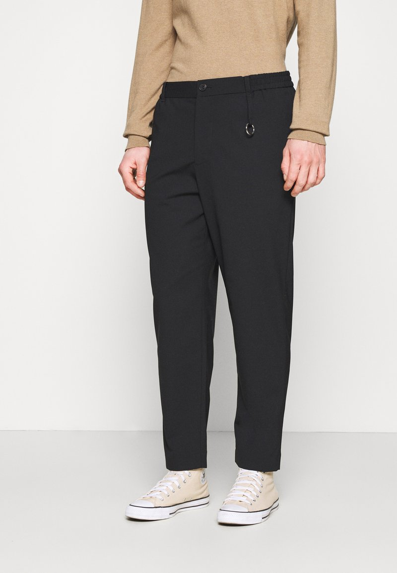 AllSaints - LANGLEY TROUSERS - Kangashousut - black