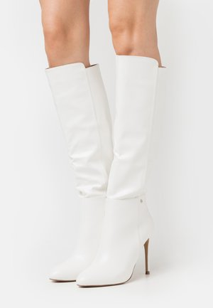 JOLIE - High heeled boots - white
