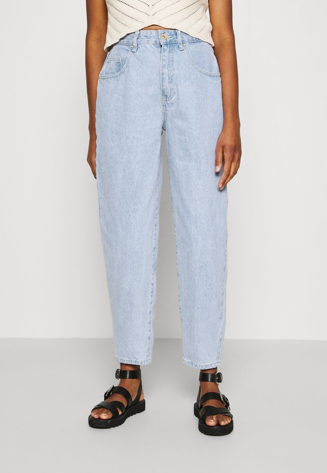 SLOUCH MOM - Jeans baggy - addis blue