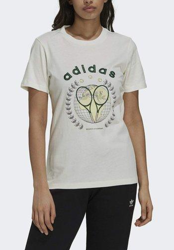 TENNIS LUXE GRAPHIC ORIGINALS - Print T-shirt - off white