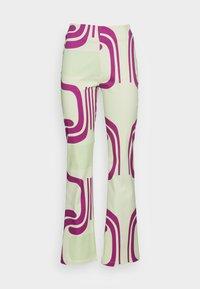 HOSBJERG - DITTE PALOMA PANTS - Spodnie materiałowe - royal fade mint - 3