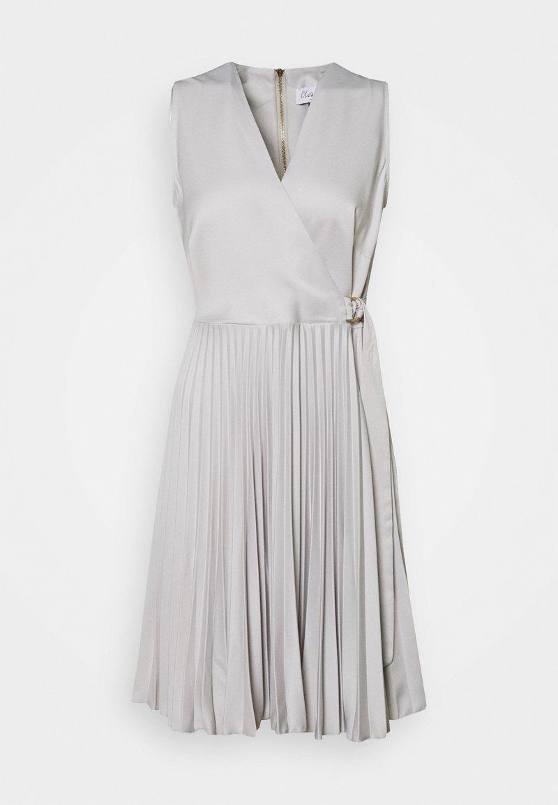 Closet - CLOSET D RING WRAP FULL SKIRT DRESS - Cocktail dress / Party dress - silver