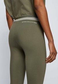 BOSS - ERINA - Leggings - Trousers - dark green - 3