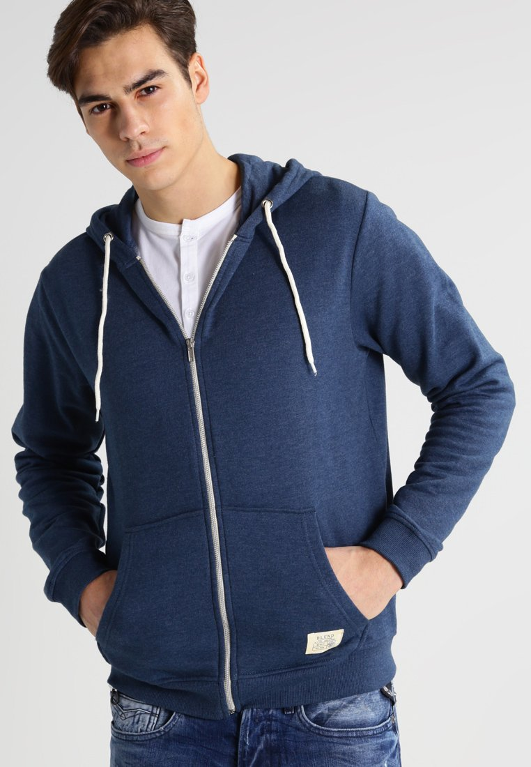 Blend - REGULAR FIT - Hoodie met rits - ensign blue