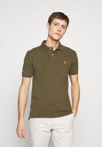 Polo Ralph Lauren - SLIM FIT MESH POLO SHIRT - Polo shirt - defender green - 0