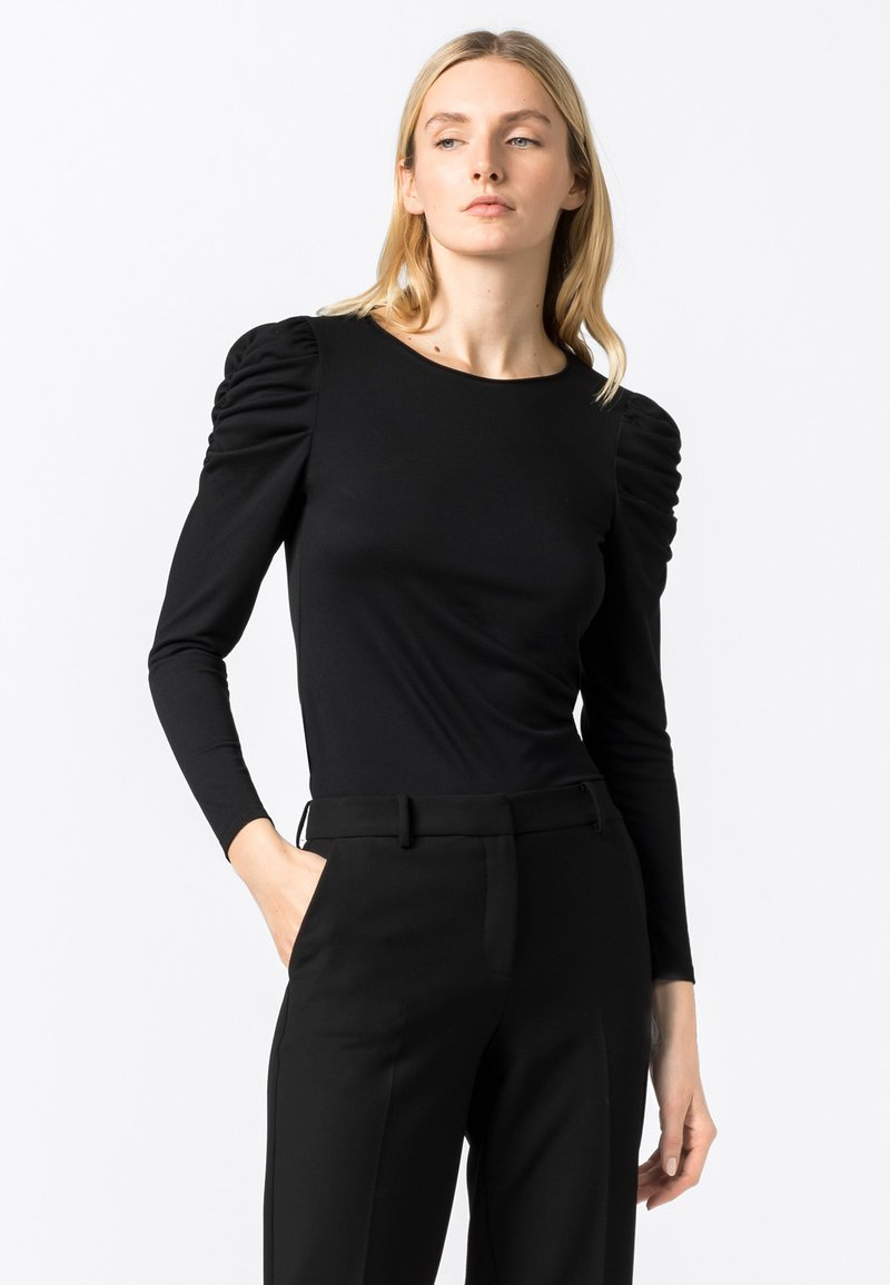 HALLHUBER - Long sleeved top - schwarz