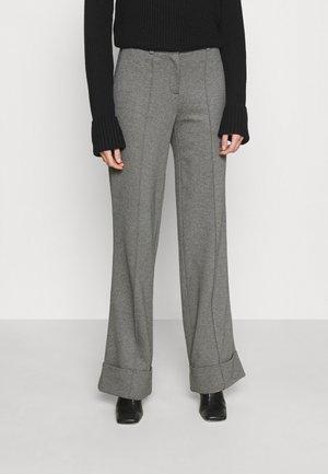 WIDELEG TAILORED PANTS - Kalhoty - dark grey melange